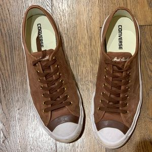 Men's Jack Purcell Converse Brown Suede Sneakers